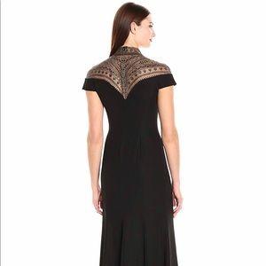 Tadashi Shoji Cap Sleeve Dress with Beaded Neck